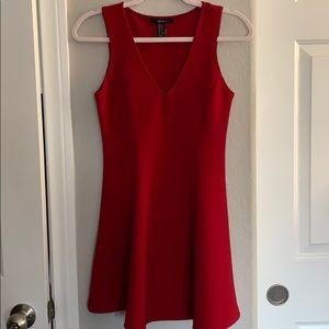 F21 red skater sleeveless dress NWOT size Small